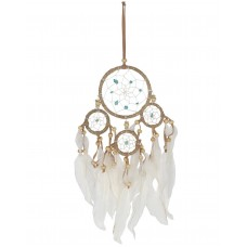 Natural Dreamcatcher with Turquoise Beads - Small