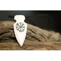 Vegvisir pendant - handcrafted from bone