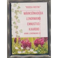 """Lenormand kaardid """"Roosa Ristik""""  eesti keeles"""