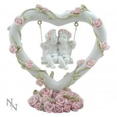 Pink Rose Heart Swing 10.5cm