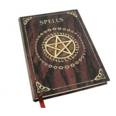 Embossed Spell Book with pentacle