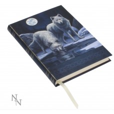 A5 journal with white wolves