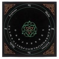 Velvet Pendulum Mat English -Celtic In Colors