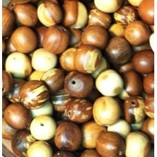 Wooden beads 10-12 mm - APPLE TREE