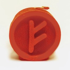 FEHU Runecandle made of beeswax