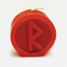 RAIDO Runecandle made of beeswax