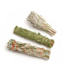 Mini Smudge Sticks - Sage Mugwort And Cedar