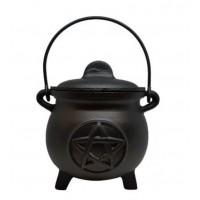 11cm Pentacle Cast Iron Cauldron