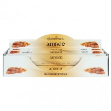 Amber fragranced incense sticks by Elements